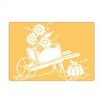 Sizzix - Textured Impressions - Embossing Folders - Wheelbarrow with Sunflowers