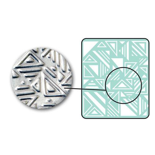 Sizzix - DecoEmboss Die - Embossing Folders - Jumbled Triangles