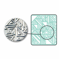 Sizzix - DecoEmboss Die - Embossing Folders - Jumbled Triangles