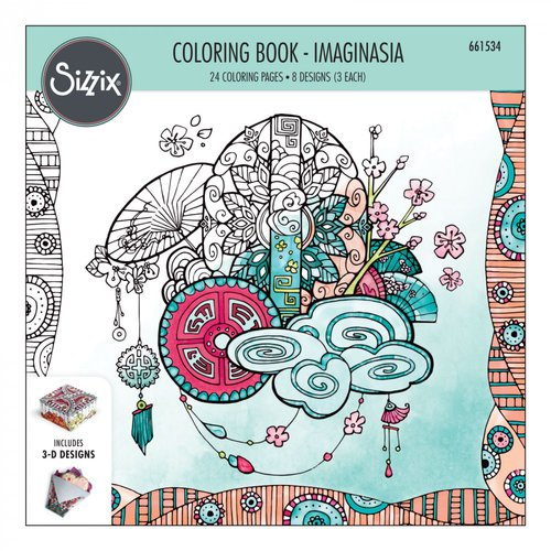 Sizzix - Coloring Book - Imaginasia