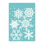 Sizzix - Christmas Collection - Textured Impressions - Embossing Folders - Falling Snowflakes