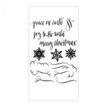 Sizzix - Christmas Collection - Clear Acrylic Stamps - Seasonal Calligraphy