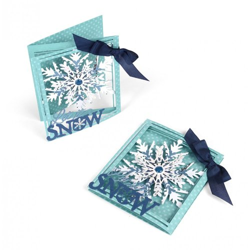 Sizzix - Christmas Collection - Thinlits Die - Tri-fold Card, Snowflake