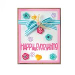 Sizzix - Framelits Dies - Card Front with Block Words Drop-ins