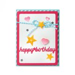 Sizzix - Framelits Dies - Card Front With Script Words Drop Ins