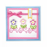 Sizzix Card Front With Borders Drop Ins Framelits Die