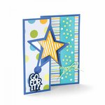 Sizzix - Framelits Die - Card, Star Flip-its