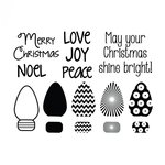 Sizzix - Framelits Die with Clear Acrylic Stamp Set - Mini Lights