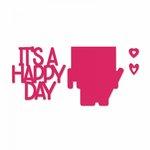 Sizzix - Thinlits Die - Happy Day 3D Drop-ins Sentiment