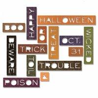 Sizzix - Tim Holtz - Alterations Collection - Halloween - Thinlits Die - Halloween Words - Thin