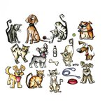 Sizzix Tim Holtz Alterations Mini Crazy Cats and Dogs Framelits Dies
