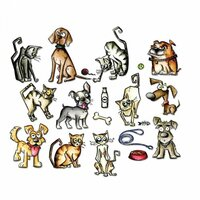 Sizzix - Tim Holtz - Alterations Collection - Framelits Die - Mini Crazy Cats and Dogs