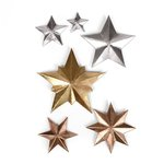 Sizzix - Tim Holtz - Alterations Collection - Christmas - Thinlits Die - Dimensional Stars