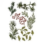 Sizzix - Tim Holtz - Alterations Collection - Christmas - Thinlits Die - Holiday Greens, Mini