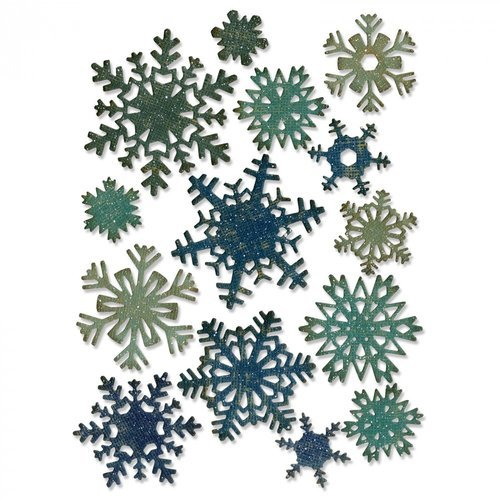 Sizzix - Tim Holtz - Alterations Collection - Thinlits Die - Mini Paper Snowflakes