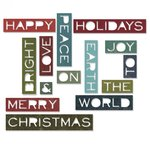 Sizzix - Tim Holtz - Alterations Collection - Christmas - Thinlits Die - Holiday Words 2 - Thin