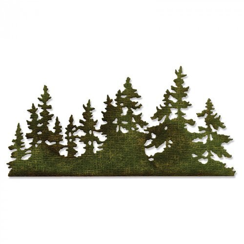 Sizzix - Tim Holtz - Alterations Collection - Christmas - Thinlits Die - Tree Line