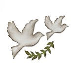 Sizzix - Tim Holtz - Alterations Collection - Bigz Die - Enchanted Doves