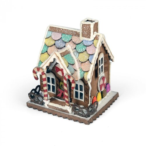 Sizzix - Tim Holtz - Alterations Collection - Bigz Die - Village Gingerbread