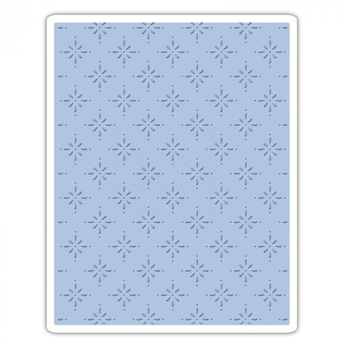 Sizzix - Tim Holtz - Alterations Collection - Christmas - Texture Fades - Embossing Folder - Star Bright