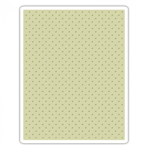 Sizzix - Tim Holtz - Alterations Collection - Christmas - Texture Fades - Embossing Folder - Tiny Dots