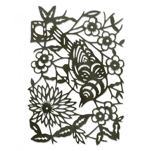 Sizzix - Tim Holtz - Alterations Collection - Thinlits Die - Paper-Cut Bird