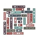 Sizzix - Tim Holtz - Alterations Collection - Thinlits Die - Pondering Words, Thin