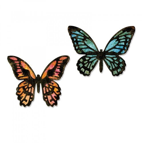Sizzix - Tim Holtz - Alterations Collection - Thinlits Die - Detailed Butterflies, Mini