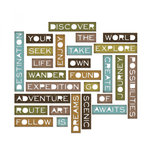 Sizzix - Tim Holtz - Alterations Collection - Thinlits Die - Thin Traveler Words