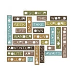 Sizzix - Tim Holtz - Alterations Collection - Thinlits Die - Traveler Words, Thin