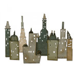 Sizzix - Tim Holtz - Alterations Collection - Thinlits Die - Cityscape, Metropolis