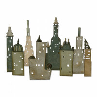 Sizzix - Tim Holtz - Alterations Collection - Thinlits Die - Metropolis Cityscape