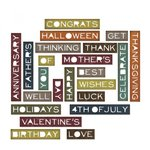 Sizzix - Tim Holtz - Alterations Collection - Thinlits Die - Sentiment Words, Thin
