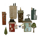 Sizzix - Tim Holtz - Alterations Collection - Thinlits Die - Cityscape, Suburbia