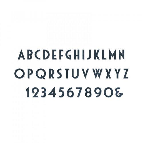 Sizzix - Tim Holtz - Alterations Collection - Bigz XL Alphabet Die - Deco