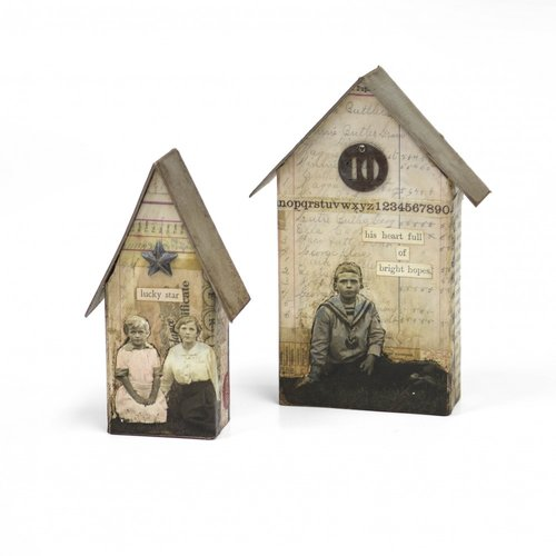 Sizzix - Tim Holtz - Alterations Collection - Bigz L Die - Tiny Houses