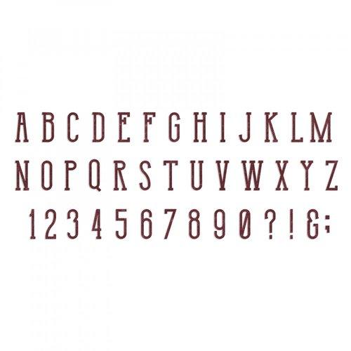 Sizzix - Alterations - Bigz XL Alphabet Die - Broadway
