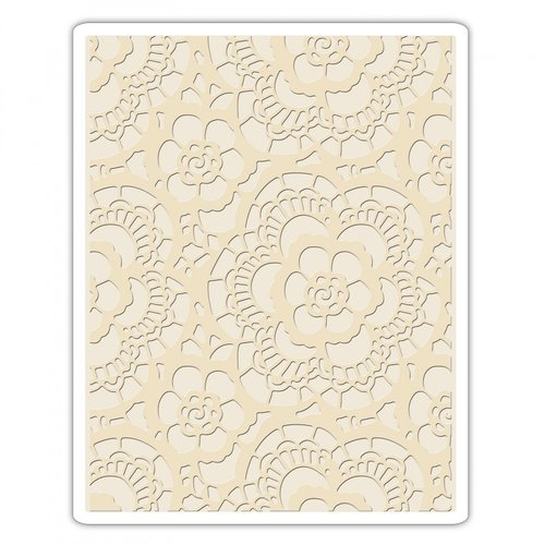 Sizzix - Tim Holtz - Alterations Collection - Texture Fades - Embossing Folder - Lace
