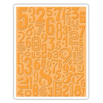 Sizzix - Tim Holtz - Alterations Collection - Texture Fades - Embossing Folder - Numeric