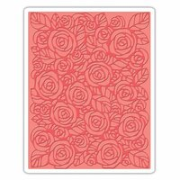 Sizzix - Tim Holtz - Alterations Collection - Texture Fades - Embossing Folder - Roses