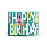 Sizzix - Framelits Dies - Card, Happy Birthday Drop-ins