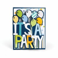 Sizzix - Framelits Dies - Card, It's a Party Drop-ins