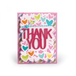 Sizzix - Framelits Dies - Card, Thank You Drop-ins