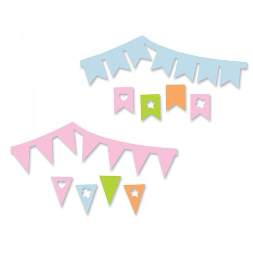 Sizzix - Thinlits Die - Banners Drop-ins