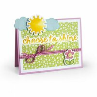 Sizzix - Thinlits Die - Horizontal Drop-ins Sentiments