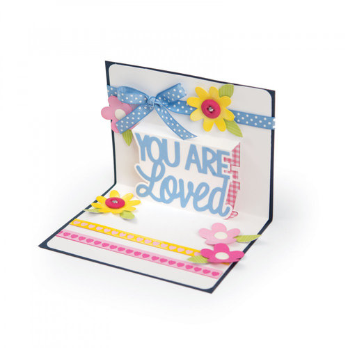 Sizzix - Thinlits Die - You Are Loved 3-D Drop-ins
