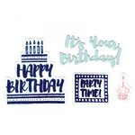 Sizzix - Mini Cards Collection - Framelits Die with Clear Acrylic Stamp Set - It's Your Birthday