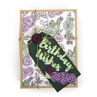 Sizzix - In Bloom Collection - Thinlits Die - Birthday Wishes
