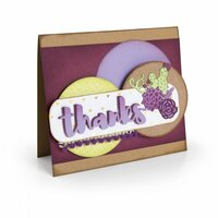 Sizzix - In Bloom Collection - Thinlits Die - Thanks