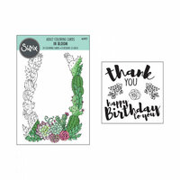 Sizzix - Coloring Cards with Clear Acrylic Stamps - In Bloom